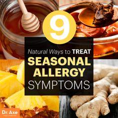 Treating seasonal allergy symptoms http://www.draxe.com #health #holistic #natural