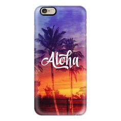 Cool Vintage 70s Aloha Hawaii Sunset Palm Trees Summer Beach - iPhone... ($40) ❤ liked on Polyvore featuring accessories, tech accessories, phone cases, iphone case, apple iphone cases, iphone cases, iphone cover case, vintage iphone case and slim iphone case