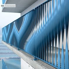 EeStairs Competition Winners Announced,Sine balustrade, Winner Repeatable Balustrade Category . Image Courtesy of Ee Stairs Railing Design, Facade Design, Stair Railing, Fence Design, Wall Design, Railings, Factory Architecture, Parametric Architecture, Parametric Design