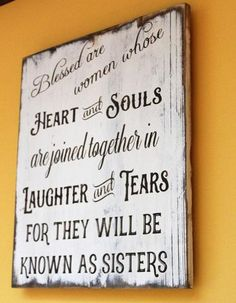 Blessed are Women who are Sisters rustic reclaimed pallet wood sign
