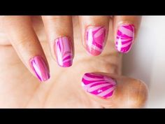 DIY Marble Nail Art Stickers! - YouTube