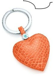 I want - Cool Fashion Finds, key ring, orange, leather, heart, charms, cute, love, key chain,