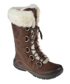 Take a look at this Brown Shazaam Shearling Boot by Kalso Earth Shoes on #zulily today! LOVE THESE!!