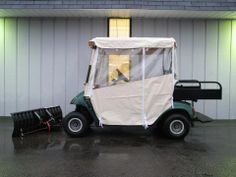 This economy zip-up/roll-up golf car enclosure is a convenient and affordable solution for utilizing your cart in the wind, rain, and snow. In nasty weather, it keeps you warm and dry, thanks to marine-grade vinyl that is UV and mildew resistant. This is a very good quality enclosure for only $219. See more at…