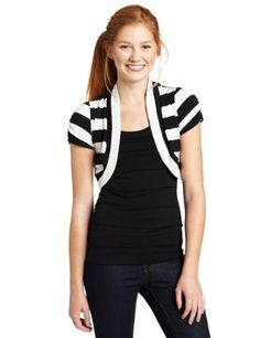 Amazon.com: My Michelle Juniors Twofer Ruffle Top With Shrug: Clothing