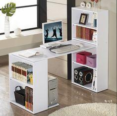 电脑桌台式简约组合书柜电脑桌台式桌家用学习桌宜家办公书桌特价-淘宝网