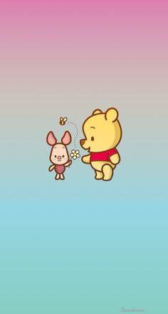 Winnie the Pooh & piglet iPhone lock screen/ home screen/ wallpaper