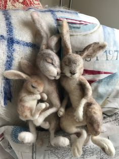 Your place to buy and sell all things handmade Needle Felted Animals, Felt Animals, Baby Animals, Cute Animals, Felt Bunny, Felt Owls, Needle Felting Tutorials, Felt Mouse, Wet Felting