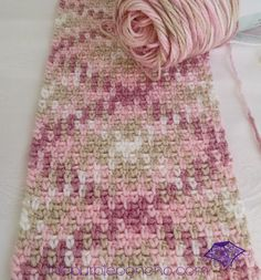 Planned Color Pooling Crochet Argyle Super Scarf by The Purple Poncho