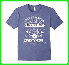 Mens Funny 75th Birthday Tshirt Look This Good at 75  2XL Heather Blue - Birthday shirts (*Amazon Partner-Link)