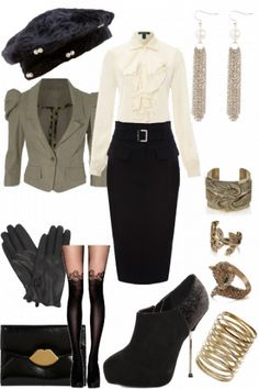 Military inspired outfit