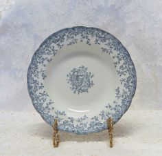 Antique French Blue Transferware Soup Bowls/ 19th Century China/ Bordeaux/ Blue and White Dishes/ Set of 11 by TwoCousinsCollection on Etsy