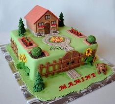 Autor: dadulkah Grandma Birthday Cakes, 70th Birthday Cake, Vegetable Garden Cake, Cake Original, Birhday Cake, Housewarming Cake, Peter Rabbit Cake, Cake For Husband, Single Layer Cakes