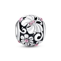 """Romantic Pick Butterfly Charm ❤ #Glamulet jewelry,fits all brands bracelet. Wonderful gifts for family, lover, friends...Get 5% off on www.glamulet.com with coupon code """"PIN5"""""""