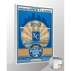 "Kansas City Royals 2012 MLB All-Star Game Sports Propaganda 19"" x 26"" Canvas Print - $79.99"