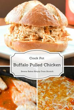 Crock Pot Buffalo Pulled Chicken so good and easy to make! The ...
