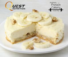 Banana Nut Protein Cheesecake (fat free cream cheese, banana nut quest bar, egg whites) | andreas protein cakery