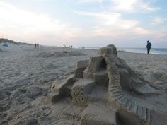 Sandcastle building in Outer Banks!