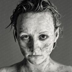B&W fine art photography by @JesusColl  #b&w #fineart #fine #art #photography #portrait #woman #beauty #mask #giclee #eyes