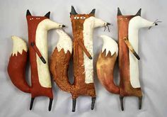 I love the handpainted quality of these foxes! They each have so much character and the shape is so unique!
