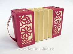 Гармошка из бумаги с резными узорами: подарочная коробочка и игрушка | КАРТОНКИНО.ru