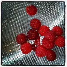 First raspberry harvest of this year! Other than topping shortcake, what are your favorite ways to use these berries?  #raspberry #ideas #please #harvest #garden #greenthumb #berries #almostsummer