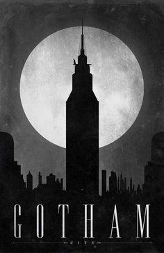The Comic Travel Locations Collection Features Minimalist Metropolises #superhero #art trendhunter.com