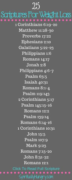 Scripture can always help equip us for lasting change. If you are dieting or seeking a healthy lifestyle these scriptures are for you!