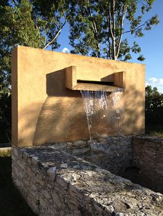 Luis Barragan Inspired Fountain over old Mine Shaft