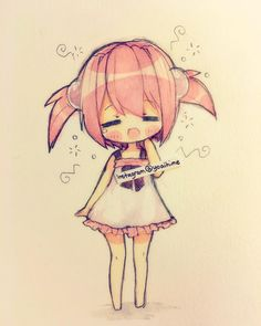 Anime chibi girl | good morning