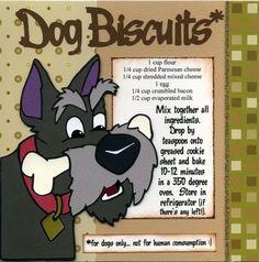Disney Food, Disney Recipes, Dog Biscuits, Evaporated Milk, Alcohol Recipes, Homemade Dog, Recipe Cards, Dog Treats, Dog Food Recipes