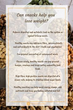 How can snacking help you lose weight? #healthy snacks #weight loss #cravings #superfoods #nutsandseeds #snacks #clean eating #grocery list #healthy food #healthy eating #whole foods #plant-based High Protein Snacks, Healthy Snacks, Reduce Weight, Lose Weight, Vegetable Snacks, Scientific Journal, Holistic Nutritionist, Getting Hungry, Binge Eating