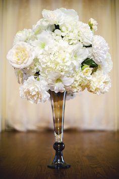 Champagne Wedding Tall Centerpiece