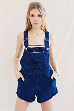 Urban Renewal Recycled Denim Shortall Romper
