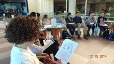 Students discuss the public health model