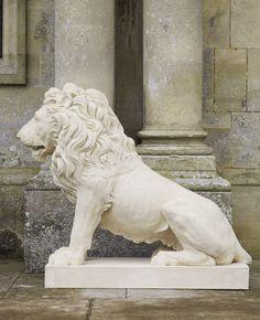 Coade Stone Lion - Jamb Ltd. -- White Lion Sculpture