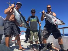 """Triton limits out on bluefin tuna - Outdoors Sports – Some incredible things going on in this great 2015. The Triton had an awesome day of fishing Wednesday catching limits of sizable bluefin tuna in tremendous action. Next chance to get aboard the Triton is next Monday Aug 17th, Thursday Aug 20th and Friday Aug 21st. These are limited load 5am to 5pm trips fishing """"Where the Fish Are"""" Space is limited so don't delay, book online at... #aventurasalairelibre #fishreport #outdoorssports"""