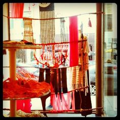 Love this yarn and stick window display from somewhere in Chicago (maybe Free People?)