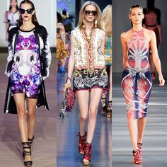 Entre florais, étnicos, aquarelas, abstratas ou até os padrões preto e branco, outra tendência acabou surgindo e ganhando seu espaço no meio de tantos desenhos diferentes: a estampa espelhada.  #trendalert #colors #fashion