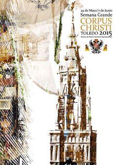 Cartel Fiestas Corpus Christi TOLEDO 2015 (29 Mayo 7 Junio)