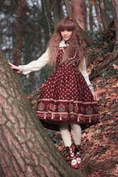 """""""lovellochka photo by Spelendora""""  Oh, such a Russian-folk-costume feel to this! Sort of Dolly Kei?"""