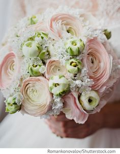 Ranunkeln Hochzeitsstrauß creme weiß für Hochzeit