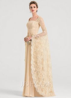 [US$ 195.00] A-Line Square Neckline Floor-Length Chiffon Evening Dress With Ruffle Beading Chiffon Evening Dresses, Cheap Evening Dresses, Evening Gowns, Chiffon Dress, Ruffle Beading, Floor Length Dresses, Custom Dresses, Formal Gowns, Beautiful Gowns