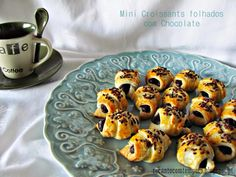 Recanto com Tempero: Mini croissants folhados com chocolate