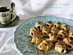 Recanto com Tempero: Mini croissants folhados com chocolate