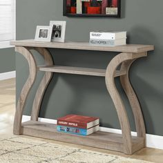 $130- Monarch Specialties 3-Tiered Curved Console Table | from hayneedle.com 130