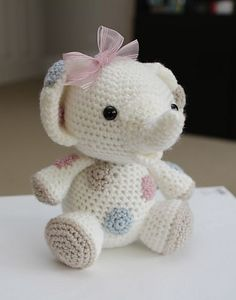 Ravelry: Peanut the Baby Elephant pattern by Little Muggles available for download for $4.99.
