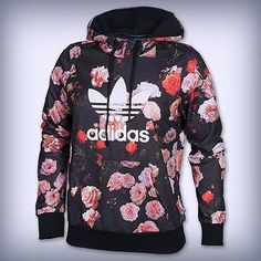 ADIDAS Originals Women's Trefoil Allover Floral Hoodie black F79297