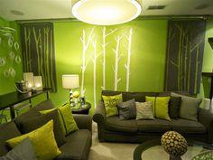 Green Walls Living Room Home Interior Design Ideas