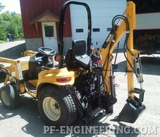 Do-it-yourself CAD Plans by P. Loaders, Backhoes for garden tractors, log splitters. Sample pictures and videos of those. 3 Point Hitch Attachments, John Deere 400, John Deere Garden Tractors, Garden Tractor Attachments, Tractor Accessories, Compact Tractors, Sears Craftsman, Small Ponds, Lawn Mower